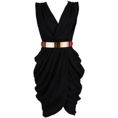 'Monroe' Black Chiffon Wrap Dress SALE (€96) ❤ liked on Polyvore featuring dresses, vestidos, robes, short dresses, chiffon cocktail dresses, short chiffon dress, chiffon dresses, chiffon wrap dress and draped chiffon dress