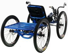 Custom UTCustom Catrike Recumbent Quad by Utah Trikes - check out all our special projects and custom builds Velo Tricycle, Boyd Blue, Three Wheel Bicycle, Biking With Dog, Custom Trikes, Recumbent Bicycle, Reverse Trike, Quad Bike, Kart