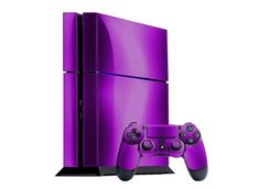 Custom PS4 System | Sony PlayStation 4 Skin (PS4) – NEW – PURPLE CHROME MIRROR system ...