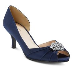 Women's Aimee Two Piece Heels Navy (Blue) 8.5 - Tevolio