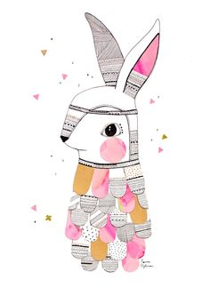 Image of Limited Edition Print // Mr. Feathered Rabbit (custom sizes still available)