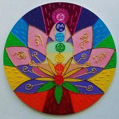 Mandala mdf REIKI Flor de Lótus 60cm
