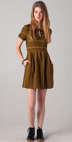 Madewell Stucco Stripe Dress