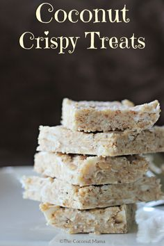 Coconut Crispy Treats - Skip the cereal and make a healthy crispy treat instead! Paleo, vegan and gluten free.