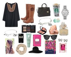 """""""Fall dys"""" by alisa105 ❤ liked on Polyvore featuring MANGO, Michael Kors, Alex and Ani, Eos, Marc by Marc Jacobs, NARS Cosmetics, Lancôme, maurices, Kate Spade and Clinique"""