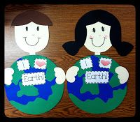 Adorable Earth Day Craftivity packet full of cute printables for the little ones this April.  justwildaboutteaching.blogspot.com