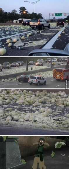 So a cabbage truck crashed on the highway near Rochester NY... MY CABBAGES!!!