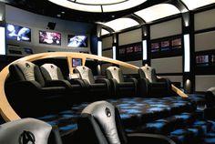 Five Star Trek Themed Home Theatres Trekkies Will Go Mad For -  #design #hometheater #startrek #trekkies