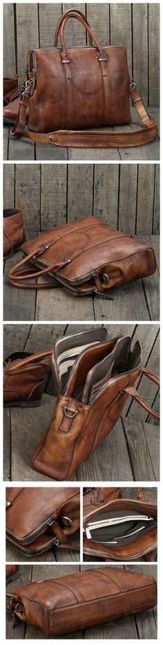 Handmade Vintage Brown Leather Briefcase Men Business Bag Handbag Fashion Laptop Bag 14119 – Vintage Brown Source by masterattire Briefcase For Men, Leather Briefcase, Business Briefcase, Purses For Sale, Purses And Bags, Fashion Handbags, Fashion Bags, Style Fashion, Leather Purses