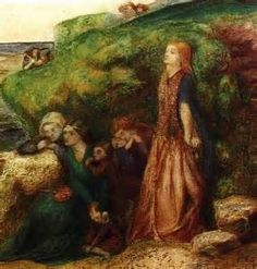Painting by Lizzie Siddal, to illustrate my poem, The Life and Burial of Lizzie Siddal