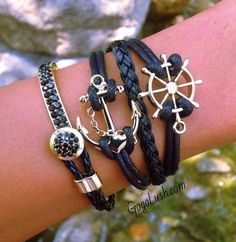 Cute Jewelry. I love the whole sailor, sea's thing and I think this is really cool....I also love that it's black and gold because a lot of anchor items I have seen are navy and silver. So this is kind of new and cool!