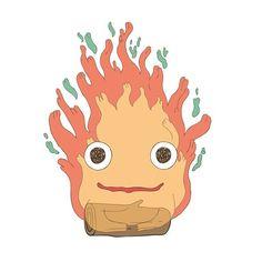Calcifer la estrella #calcifer #oldstar #howlsmovingcastle #hayaomiyazaki #flame #flameface #illustration #ilustracion #estrella #flama #castillovagabundo #anime by manuelmoriv