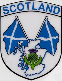 The Saltire flag & the thistle are it's symbols.
