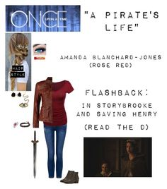 """""""OUAT - S7E2 - *A Pirate's Life*"""" by c-a-marie2000 ❤ liked on Polyvore featuring Mauritius, Walking Cradles, MINX, Bling Jewelry, Hot Topic, MANGO, kitchen, onceuponatime, ouat and rosered"""