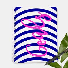 Goals Notebook | Goal Planner | Squad Goals | New Year Resolution | Notepad | Custom Notebook | Gifts For Her | Gift Idea | Teacher Gift by JoyAdoreDesignCo on Etsy