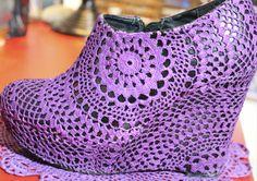 Zapatos tejidos a crochet para damas paso a paso - Imagui