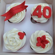 Anniversary Cupcake Gift Box