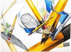 2017년 한양대실기대회 기초디자인B형 수상작입니다. : 네이버 블로그 Marker Kunst, Marker Art, Princess Zelda, Fictional Characters, Design, Fantasy Characters