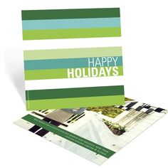 Business Photo Christmas Cards -- Holiday Stripes