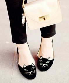charlotte olympia flats. I need these in my life. Maybe one day when I have an extra $800 laying around.