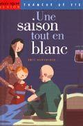 """""""Une saison tout en blanc"""" de Eric Sanvoisin, Milan. Un livre super émouvant sur un petit garçon atteint d'une leucémie qui attend avec impatience le passage des clowns dans le service. Je dirais à partir de 10 ans."""