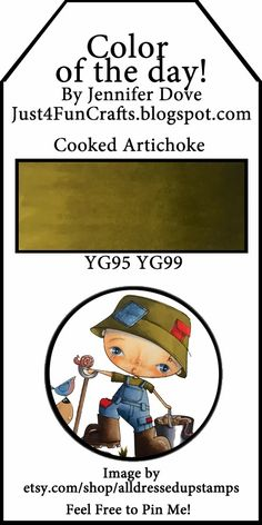 Copic Color of the Day 147 Cooked Artichoke Just4FunCrafts and DoveArt Studios