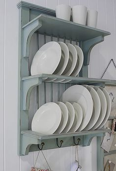 Duck Egg Blue Kitchen Plate Rack From The White Lighthouse