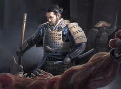 """Hida Kisada, Crab Clan Champion,"" by Drew Baker"