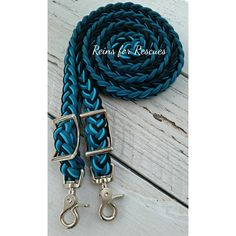 Teal, Turquoise & Black Adjustable Riding Reins