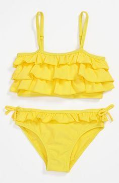 Pumpkin Patch 'Frilled' Two-Piece Tankini Swimsuit (Little Girls & Big Girls) available at #Nordstrom