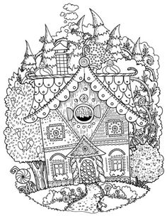The Fantastic World of the Brothers Grimm Adult Coloring Book