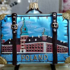 Tuesday's Travels.  Your passport to Christmas is taking us to the country of Poland.  We love  Poland because they have the most amazing glass blowers who create these beautiful Christmas ornaments.   #christmaschic #nutcrackermarket #shabbychic #shabbycottage #vintagechristmas #vintagetreasures #ornaments #traveltheworld #vacation #xmastree Www.vintagetreasures-ornaments.com
