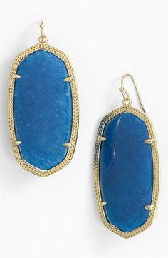 Kendra Scott Blue Jade Earrings