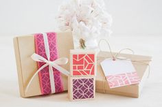 Abstract Decorative Rubber Stamp Set - Random & Geometric Pattern for Gift Wrap Envelopes Unique Crafts Projects Cardmaking