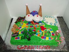 Candyland cake our family made for our son's Cub Scout Cake Bake.  It won best overall!  I think it would make a great party theme.