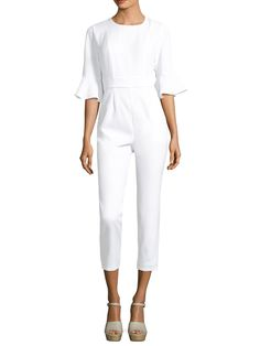 Lucca Couture 3/4 Ruffle Sleeve Jumpsuit