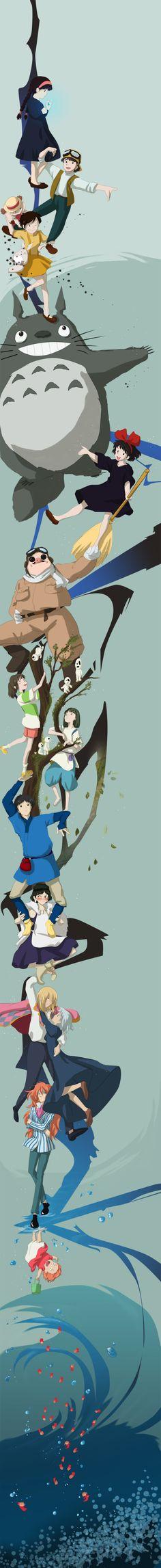 An Assortment of Amazing Studio Ghibli Inspired Art