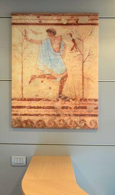 Ufficio Vendite AFFRESCO - danzatore (particolare tompa del triclinio) art. z210 76x100 cm
