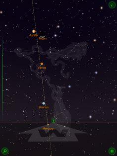 Jupiter, the moon, Venus, Uranus and Mercury all aligned in the night sky, Feb. Sun Moon, Night Skies, Constellations, Mercury, Venus, Around The Worlds, Sky, Stars, Amazing