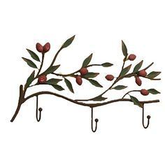 AngelWings Creative Rural Style Cast Iron Branch Wall Hooks With 3 Hooks For Coat / Handbag / Keys