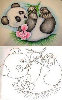 Draw a Panda Bear Baby Cartoon Drawing, Baby Drawing, Cartoon Sketches, Pencil Art Drawings, Animal Drawings, Cute Drawings, Shadow Painting, Fabric Painting, Animal Coloring Pages
