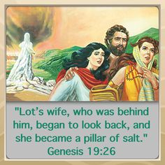 Bible Lesson for Us: Genesis19:26. How foolish to be distracted by or longingly look back at what we have left behind in the world! How can we avoid distractions? The bible answers that. JW.org has the bible & bible study aids that will take you to your bible for those answers. Also, Jehovah's Witnesses also offer a free in home bible study.