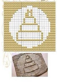 Cake Knit Dishcloths Pattern