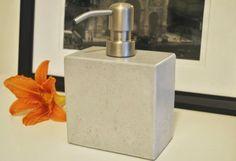 Concrete Soap Dispenser / Concrete Soap Pump / Kitchen Soap Dispenser Pump / Liquid Soap Dispenser by fmcdesign on Etsy https://www.etsy.com/listing/150107029/concrete-soap-dispenser-concrete-soap