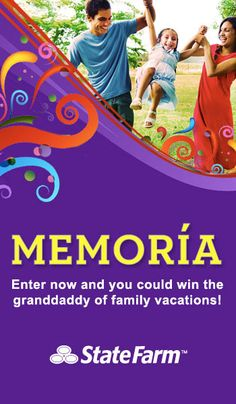 Give your family a chance to win a trip to Disney World®! I did by entering the State Farm Memoria sweepstakes
