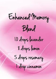 Enhance memory blend: 4 essential oils