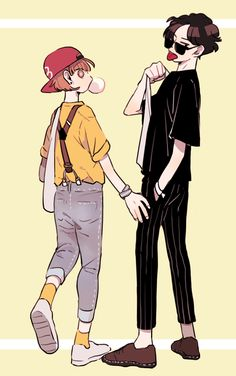 Lukas and Carter Character Illustration, Illustration Art, Illustrations, Aesthetic Drawing, Aesthetic Art, Arte Sketchbook, Poses References, Cute Art Styles, Art Reference Poses