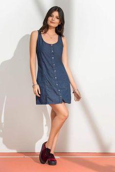 Denim, Dresses, Fashion, Full Sleeve T Shirts, Minimal Dress, Long Gowns, Full Sleeves, Feminine Fashion, Vestidos