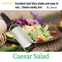 I absolutely love this grater! It grates like a dream. No pressure needed. The handle fits well giving you perfect control. Highly recommend this item! You won't be disappointed.  Click image to order!