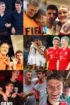 Bromance: Bastian Schweinsteiger and Thomas Müller